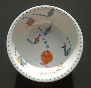 assiette bébé jerome peinture sur porcelaine
