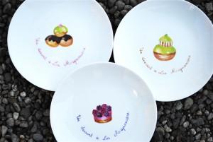 assiettes-dessert-petits-fours-peinture-porcelaine
