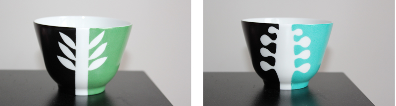 bols aperitif peinture sur porcelaine