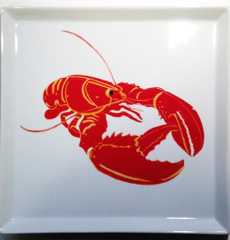 homard-peinture-porcelaine-sur-plat-carre